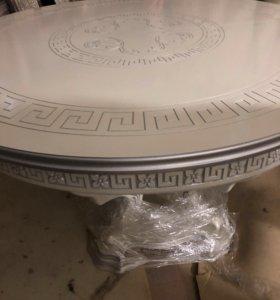 Стол Серебро 120диам раздвижной на ножке подиум