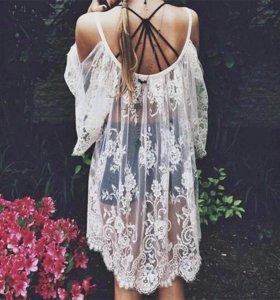 Будуарное(прозрачное) платье, аренда