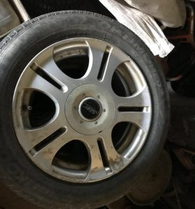 Продам колеса р15 4/100 на летней резине