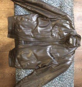 Куртка осенняя натур кожа, мужская