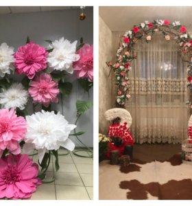 Оформление свадеб, юбилеев и детских праздников