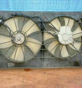 Радиатор охлаждения + рамка и вентиляторы