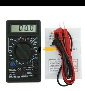 Цифровой мультиметр с пищалкой DT-832