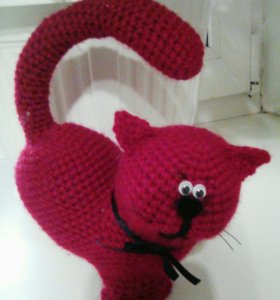 Котик в виде сердца (игрушки своими руками)