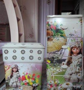 """Комод и корзина для игрушек """"Детская мечта"""""""