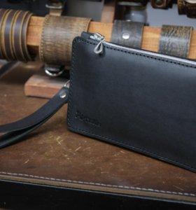 Мужское портмоне из натуральной кожи ручной работы