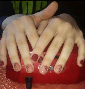 Маникюр, покрытие гель лаком, наращивание ногтей