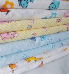 Новые пеленки из ситца и фланели (пошив)