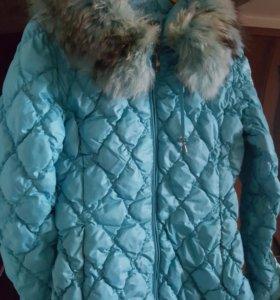 Куртка с капюшоном натуральный мех