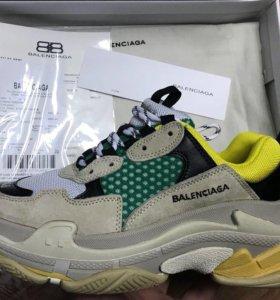 Кроссовки Balenciaga Triple S желтый,зеленый 36-45