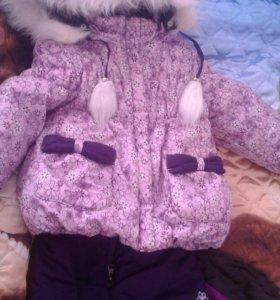 Зимний костюм для девочки, очень красивый и теплый
