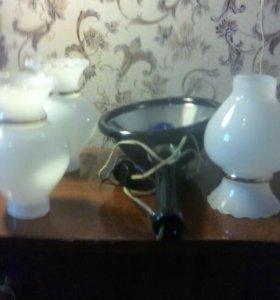 Плафоны для люстры и бактерицидная лампа