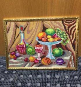 Картины вышивка ручная работа