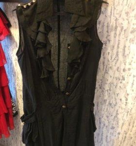 Легкое летнее платье-безрукавка