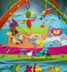 Развивающий коврик  tiny love с тремя игрушками