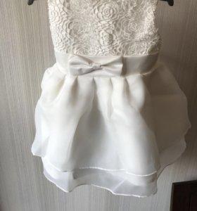 Платье новое для девочки 1,5 -2 года