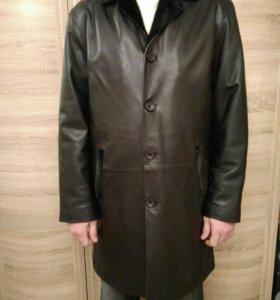 Кожаная куртка - френч.
