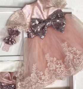 🎀Платье,повязка,колготки и туфли для принцесс 🎀