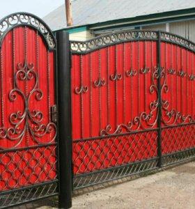 Кованые ворота 5,ковка