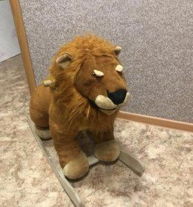 Игрушка-качалка лев