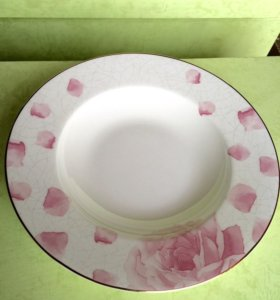 Тарелка суповая фарфоровая Кабури Kaburi