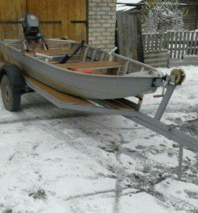 Лодка Вятка Профи 37 с мотором Yamaha и прицепом
