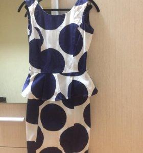 Платье с баской р s