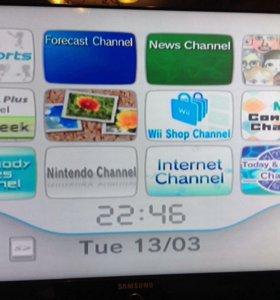 Wii Nintendo комплект игровая приставка и игры