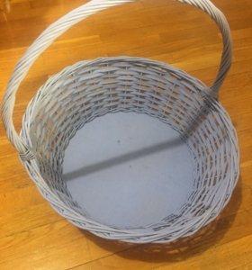 Корзина плетёная диаметр 45 см высота 45 см