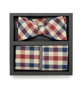 Набор #19 (галстук-бабочка, платок, запонки)