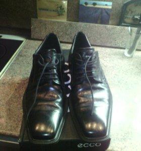 Ботинки,кожа,почти новые,экко,44 размер
