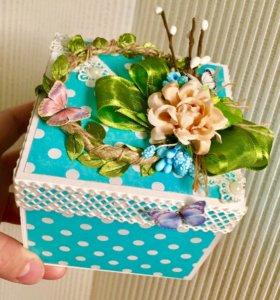 Подарочная коробочка с сюрпризом на Пасху