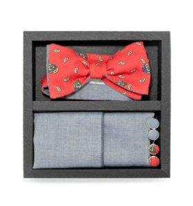 Набор #6 (галстук-бабочка, платок, запонки)