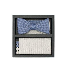 Набор #9 (галстук-бабочка, платок, запонки)