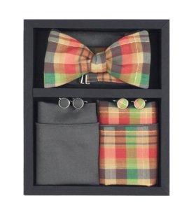 Набор #8 (галстук-бабочка, платок, запонки)