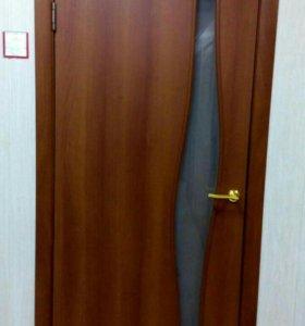 """Межкомнатная дверь """"ВОЛНА"""" ламинированная 2 цвета"""