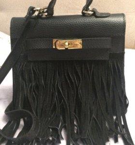 Клатч кожаный genuine leather