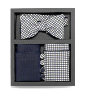 Набор #1 (галстук-бабочка, платок-паше, запонки)