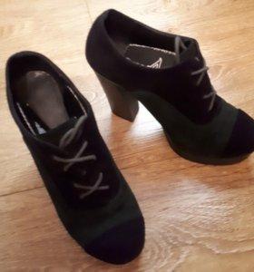 Кожаные, замшевые ботинки 36-37р