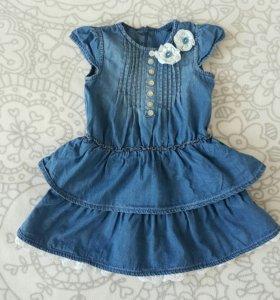Джинсовое платье р.92