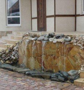 Облицовка ступеней и укладка натурального камня