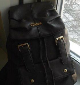 Рюкзак, кожа.