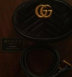 Gucci сумка велюр