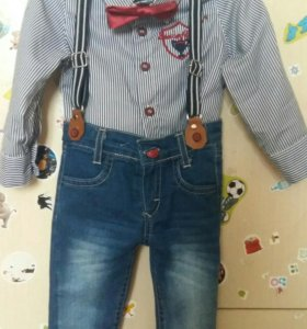 Костюм (рубашка + джинсы)