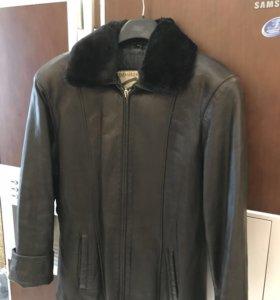 Женская куртка натур кожа с мутоном 46L