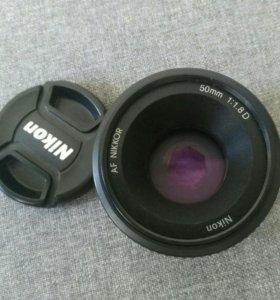 Объектив nikon AF nikkor 50mm 1:1.8D продажа/обмен
