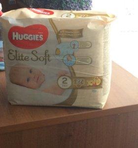 Huggies Elite Soft 2 ( 3-6)кг