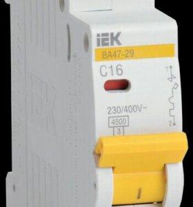 Выключатель автоматический однополюсный IEK 16А
