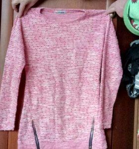 Розовая кофта,на рост 164,размер 44-46