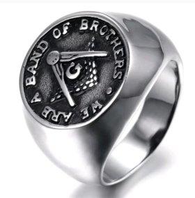 Кольцо Перстень Масон Знак тайного братства